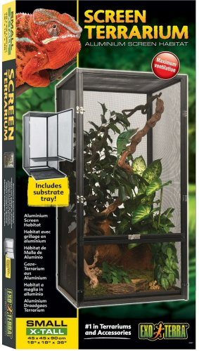 Exo Terra Small Crickets - Exo Terra PT2677 Screen Terrarium, Small