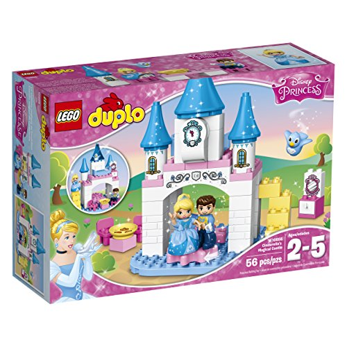 LEGO DUPLO Disney Princess Cinderella's Magical Castle 10855, Preschool, Pre-Kindergarten, Large Building Block Toys for Toddlers