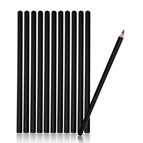 (12Pcs Waterproof Eyebrow Tattoo Pencil Cosmetic Natural Long Lasting Microblading Permanent Makeup Eyebrow Line Black Color)