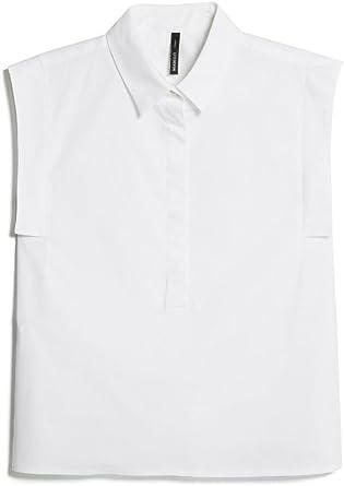 MANGO Camisa Mujer Nais Blanco S: Amazon.es: Ropa