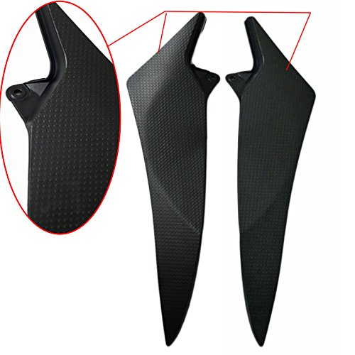Beautyexpectly Motorcycle Black Tank Side Fairing Panel Gas Tank Cover Trim for Yamaha YZF R1 2009-2014 2010 2011 2012 2013 ()
