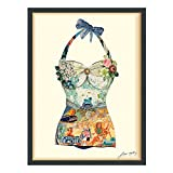 Empire Art Direct ''California Beach'' Dimensional Art Collage Hand Signed by Alex Zeng Framed Graphic Wall Art