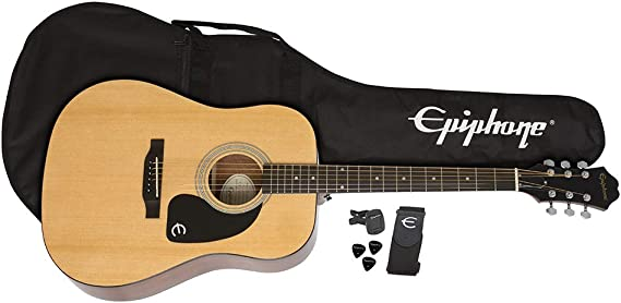 Epiphone FT-100 Player Pack - Pack guitarra acústica, color claro ...