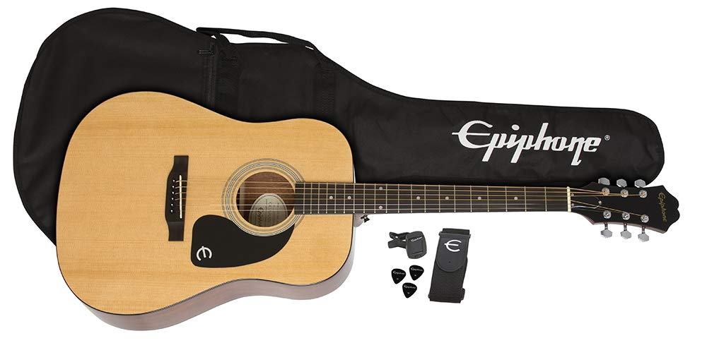 Epiphone FT-100 Acoustic Guitar Player Pack, Natural by Epiphone