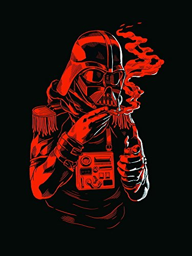 Darth Vader Cool Monochrome Red Art Funny Star Wars Print Poster