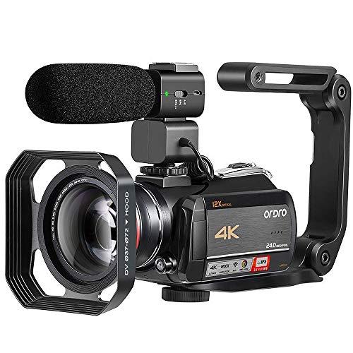 4K Video Camera Camcorder ORDRO HDR-AC5 Vlog Camera 12X Optical Lens 3.1