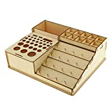 SM SunniMix Wooden Epoxy Tools Storage Holder Paint Bottles Rack Model Organizer #4 - Wood, 225x266x67mm