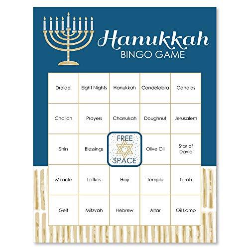 Big Dot of Happiness Happy Hanukkah - Chanukah Game Bingo Cards - 16 Count