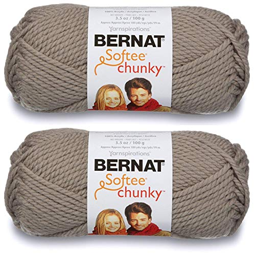 2-Pack - Bernat Softee Chunky Yarn, Clay, Single Ball