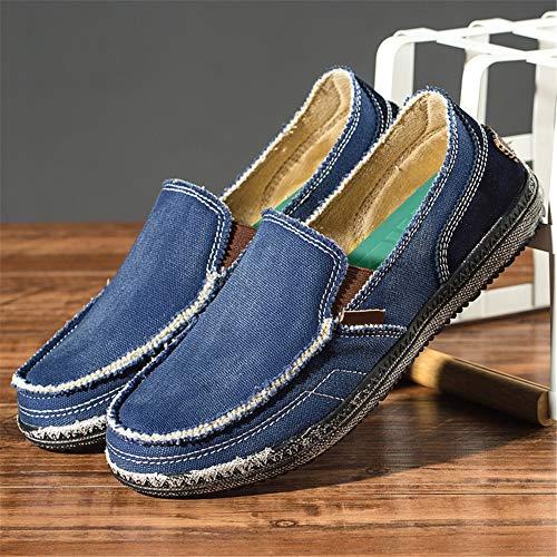Azul tip Casual For Eu Shoes U Tamaño Redonda Suaves Men 43 Antideslizante color Suelas Jean Classic Punta Qiusa X6vq4wf