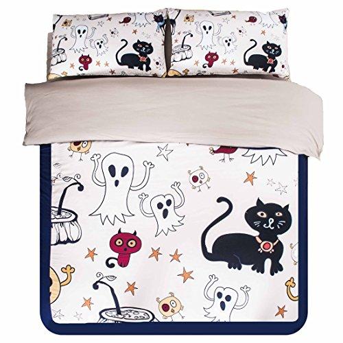 amazoncom higogogo home textiles 100 cotton creative personality cartoon bedding set sheet set childrens halloween duvet cover set super soft fitted