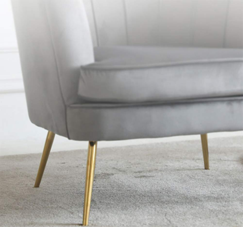 Long Sofa Legs, Metal Oblique Furniture Feet, Electroplated Imitation Gold, Felt Pad Floor Protector by Furniture legs (Image #2)