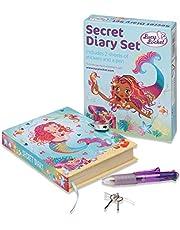 Lucy Locket - 'Magical Mermaid' Secret Diary voor kinderen - Afsluitbaar dagboek voor kinderen met hangslot en sleutels - Inclusief stickervellen en meerkleurige pen