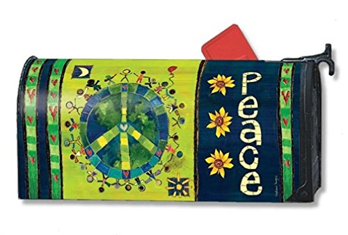 MailWraps Enter In Peace Mailbox Cover #01119 -
