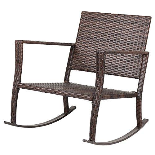Tangkula 3 PCS Patio Rattan Wicker Furniture Set Outdoor