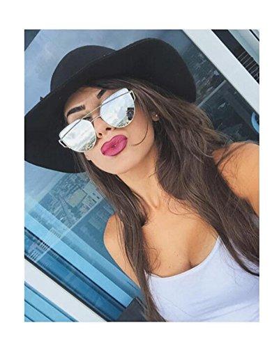 Mirrored Flat Lens Cateye Sunglasses Polarized Shades For Unisex 86798B - Diff Sunglasses Eyewear Like