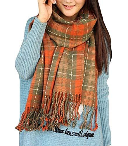 Sciarpa Donna Inverno, donna inverno scialle maglione cappotto Girl grandi Tartan Wrap Maglia Scialle Inverno Donna, Poncho Donna Invernale Stola Pashmina per Donna