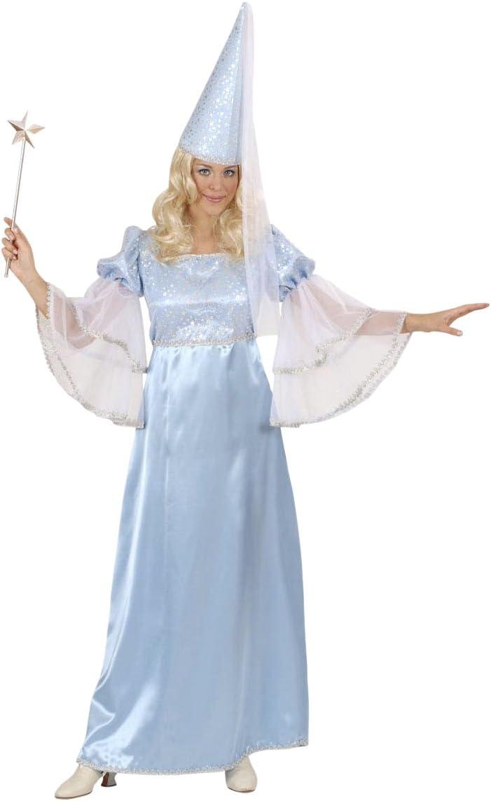 WIDMANN Señoras azul Disfraz de hada Medio Reino Unido 10-12 de Neverland cuento de hadas del vestido de lujo