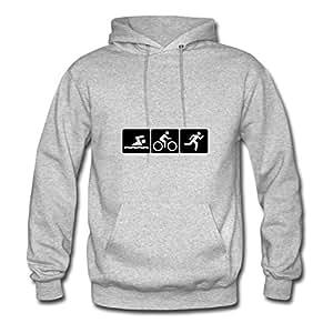 Sarahdiaz Women Triathlon Designed Sweatshirts (x-large,grey)
