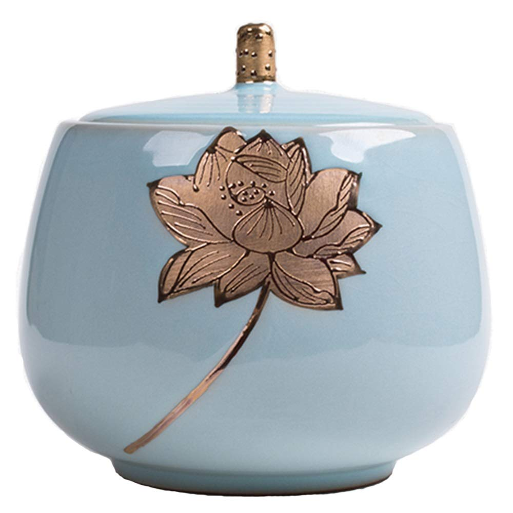 B LIDH Urns Lotus Small Capacity Casket Memorial Pet Cremation Ashes Of Three Models (Design   B)