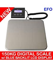weighmax 150KG (330LB) Digital Postal Scale w/Blue Backlit LCD Display 50g Graduation
