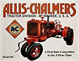 Allis-Chalmers Tin Metal Sign : Model WC Tractor