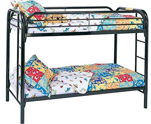 Morgan Twin over Twin Bunk Bed with Built-in Ladders Black