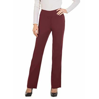 047598a4ccfda Red Hanger Bootcut Dress Pants for Women -Stretch Comfy Work Pull on Womens  Pant Burgundy-L