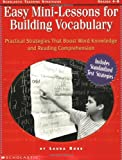Easy Mini-Lessons for Building Vocabulary (Grades 4-8)
