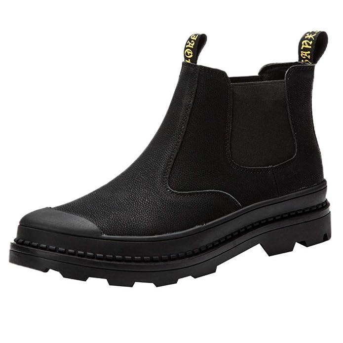 Celucke Chelsea Boots Herren Schuhe Winterstiefel