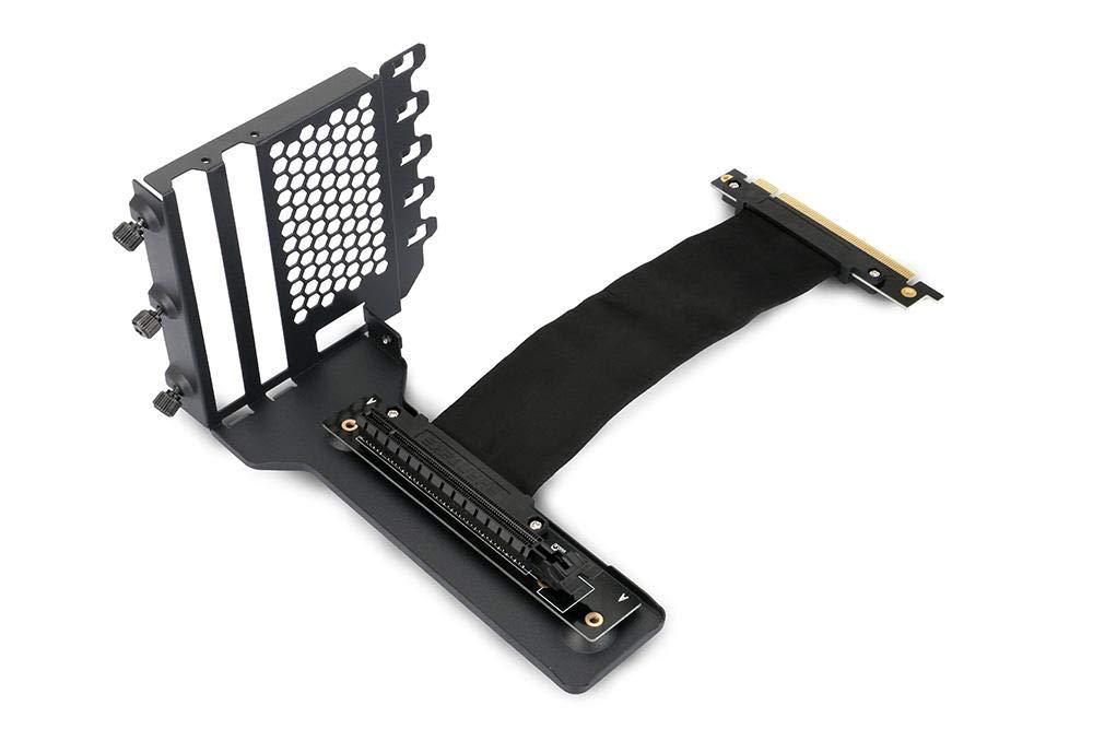 Phanteks PH-VGPUKT_02 - Universal Vertical GPU Bracket with 220mm Flat Line Pci-E X16 Riser Cable Kit