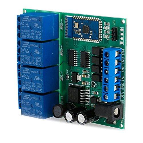 Kangnice 4-Channel DC 5V 9V 12V 24V Bluetooth Relay Module Wireless Remote Control Switch