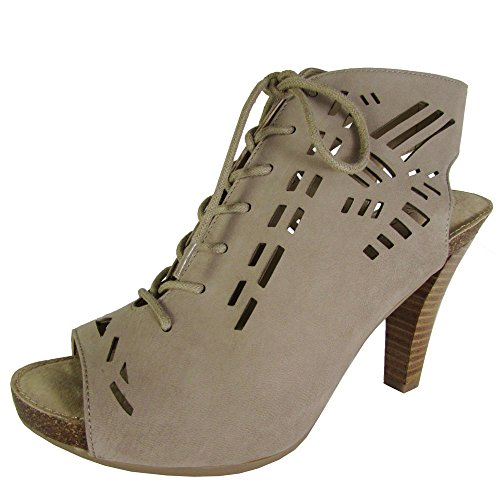Adam Tucker Womens Gemma Pump Sandal Shoes Rosewood Nubuck Nt18p945