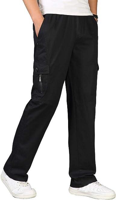 Pantalones para Hombre, Tallas Grandes Suelto Pantalones Casuales Moda Trabajo Pantalones Jogging Pants Fitness Pantalones Chandal Hombre Largos Pantalones Ropa de Hombre Pantalones de Trekking: Amazon.es: Ropa y accesorios