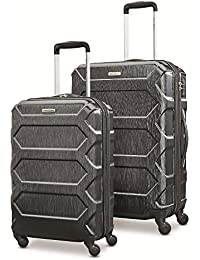"Magnitude Lx 2 Piece Nested Hardside Set (20""/24""), Black, Only at Amazon"