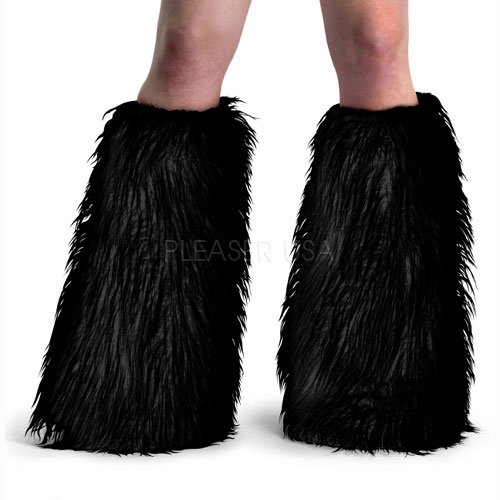 Funtasma Faux Fur Boot Sleeves (Black/Fur;One Size) (Faux Fur Sleeve Boot)