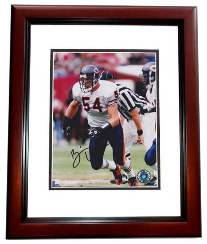 Autographed Brian Urlacher Picture - 8x10 MAHOGANY CUSTOM FRAME Future Hall of Famer - PSA/DNA Certified - Future Frame