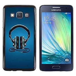 Be Good Phone Accessory // Dura Cáscara cubierta Protectora Caso Carcasa Funda de Protección para Samsung Galaxy A3 SM-A300 // Headphones Music Beat