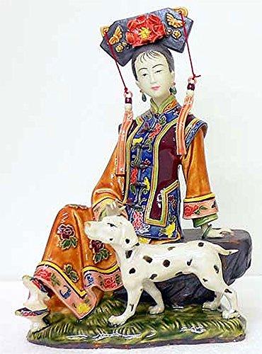 Ancient China Qing Concubine Lady Figurine Porcelain China Handmade
