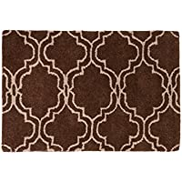 Harbormill 2 x 3 Ft. Chocolate Moroccan Print Area Rug