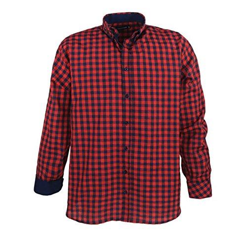 XXL Hemd modern kariert 3XL-7XL LAVECCHIA Herren Übergrößen Freizeithemd Rot trend