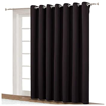Amazoncom Nicetown Drapes For Sliding Glass Door Thermal