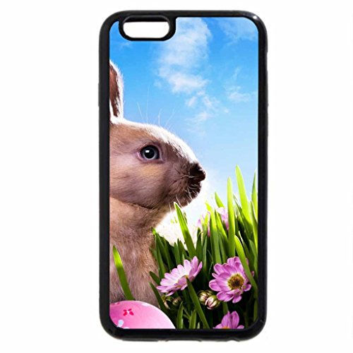 iPhone 6S / iPhone 6 Case (Black) Easter Bunny