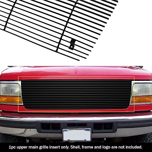 - APS Compatible with 1992-1996 Ford Bronco F-Series Pickup Black Billet Grille Grill Insert S18-H70058F