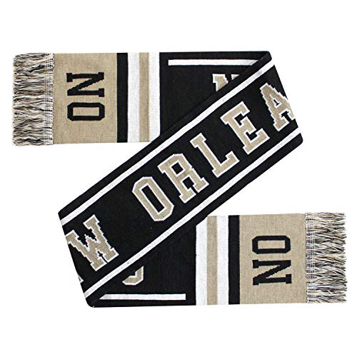 ChoKoLids Football Team City Name Knitted Scarves - 21 Cities (New Orleans) (Football Team Scarf)