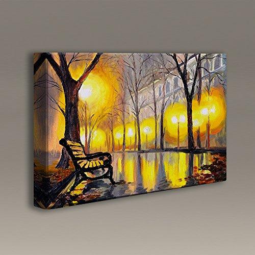 Acoustimac Acoustic art Panels : 3'x2'x2'' - Evening Park Bench by AcousticART