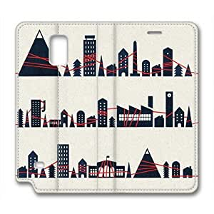 Samsung Galaxy Note 4 Case,City Building Custom Samsung Galaxy Note 4 High-grade leather Cases