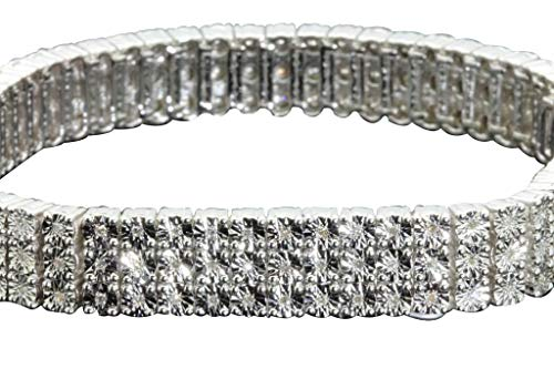 - Sterling Silver Diamond Men's Bracelet (1.15cttw, H-I Color, SI3-I1 Clarity) 8.5