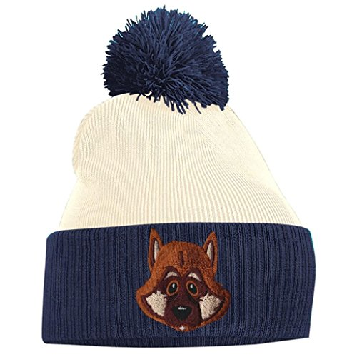 Navy and French German Alsatian White Pom Shepherd Pom Off Beanie tqYnXw0Af