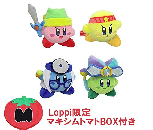 Kirby Dream Land 25th Anniversary Battle Deluxe Star Stuffed Plush Figure toy Set Of 4 With Maxim tomato box Limited ()